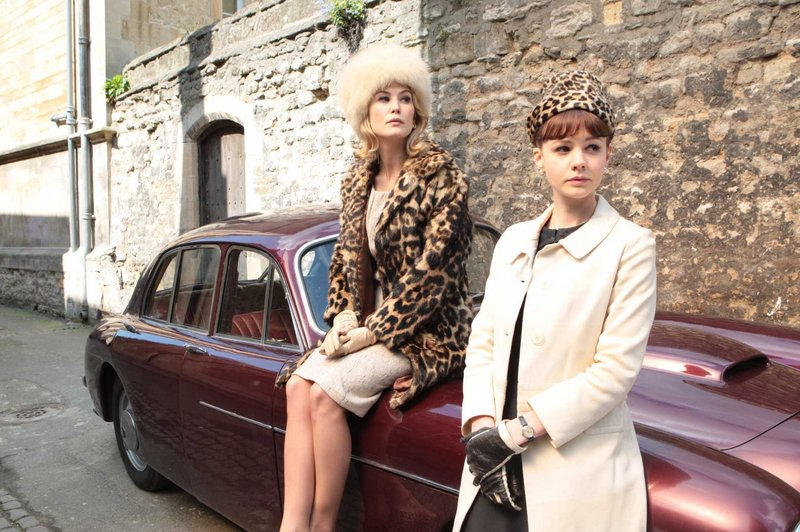 "Rosamund Pike, left, as Helen and Carey Mulligan as Jenny in ""An Education."""
