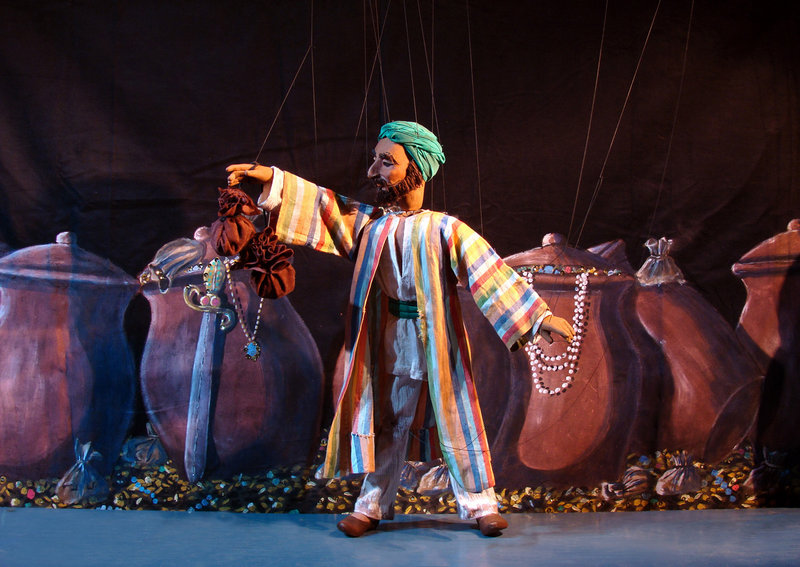 "The National Marionette Theatre presents ""Ali Baba and the Forty Thieves"" (pictured) on Friday and ""Hansel and Gretel"" on Saturday in Lewiston."