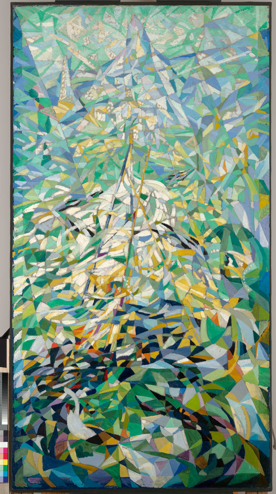 """""""Spring (The Procession),"""" by Joseph Stella, oil on canvas ca. 1914-16, from """"Methods for Modernism"""" at Bowdoin College."""
