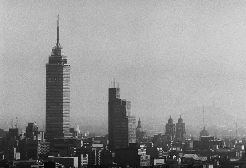 A curtain of smog enveloped the Latin American Tower, left, and surrounding Mexico City skyline in this 1998 photo. In 1992, the United Nations declared Mexico City the most polluted on the planet. Today, efforts to reduce emissions are being hailed as a model for rapidly growing cities in developing nations such as China and India.