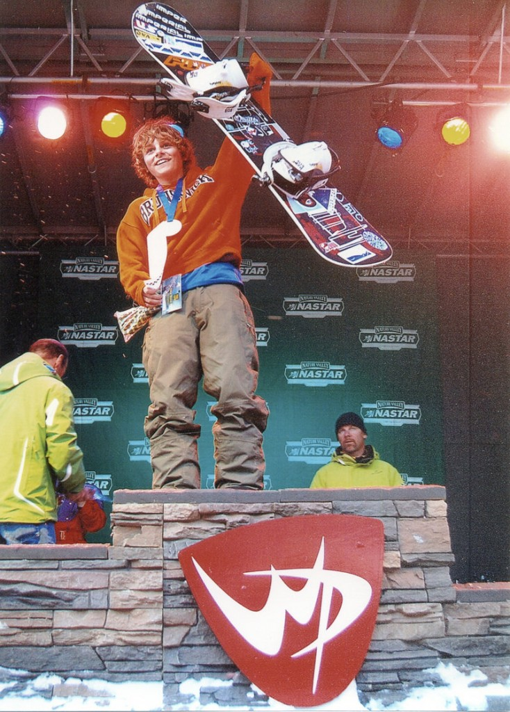 Myles Silverman, a seventh-grader from Brunswick, took first place in the 11-12 division at a snowboard competition last week at Winter Park, Colo. Silverman has won his age group three years in a row.