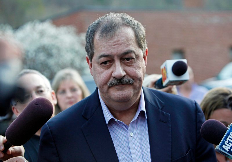 Massey CEO Don Blankenship defended the mine's safety record Tuesday.