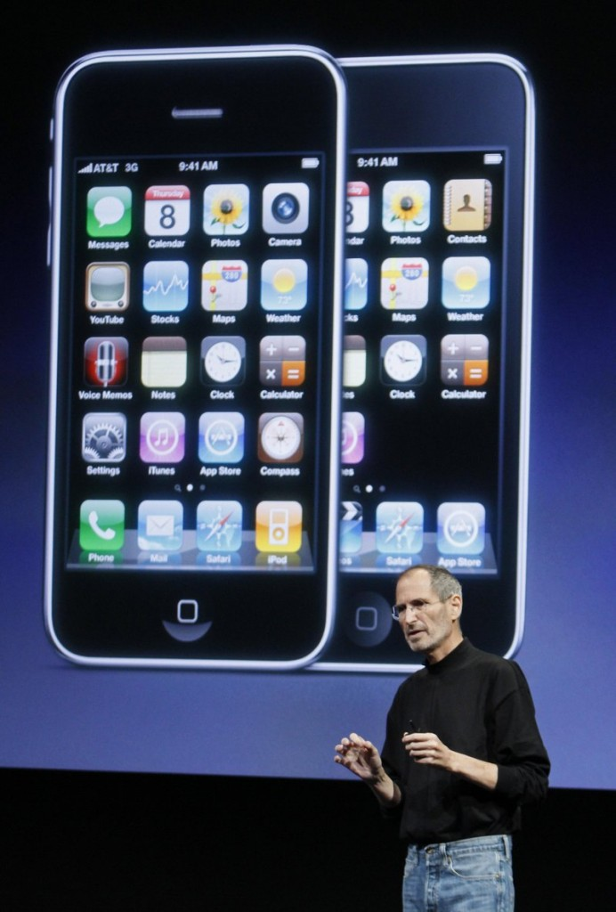 Chairman and CEO Steve Jobs speaks Thursday at an event at Apple Inc. in Cupertino, Calif. Changes are coming this summer to iPhones and this fall to iPads, he said.
