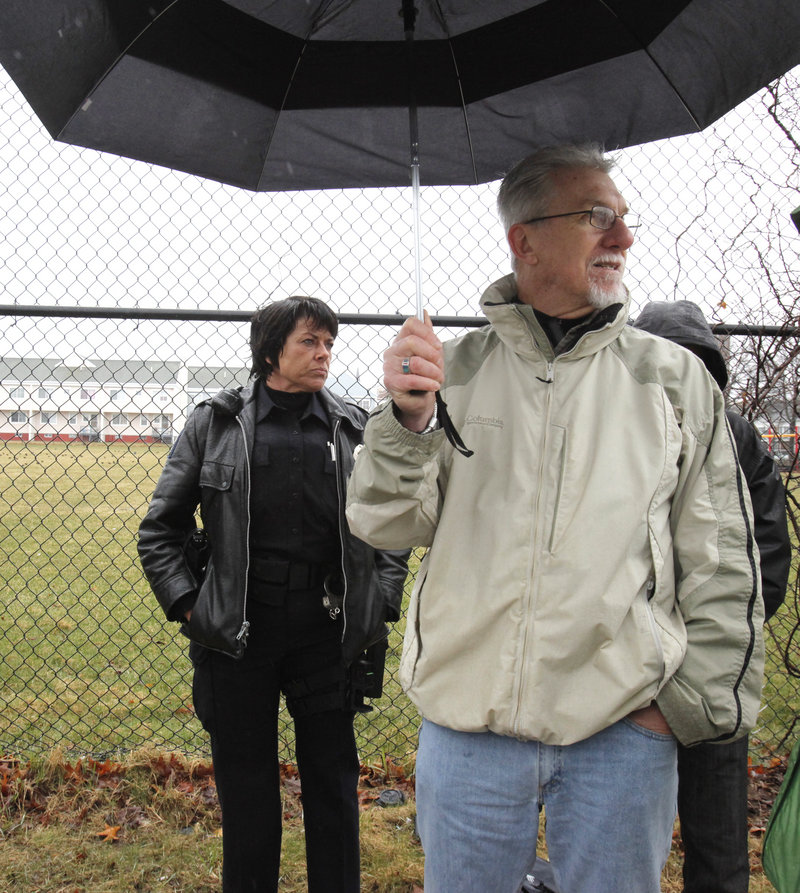 Gayle Petty, left, a senior lead officer with the Portland Police Department, believes good urban design helps police to fight crime. With her is Richard Goll, a planning expert who is advising the city, during a tour last month.