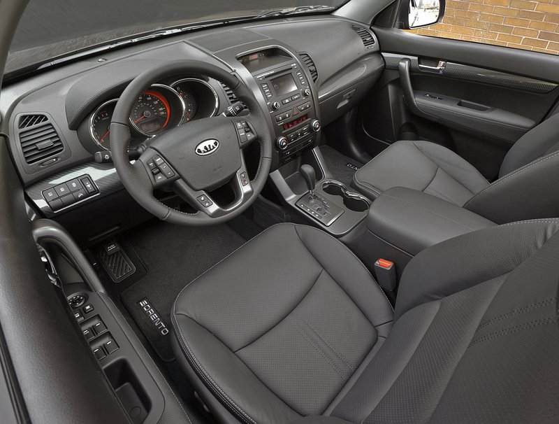The interior includes many amenities on the base model – including a tilt/telescoping steering wheel.