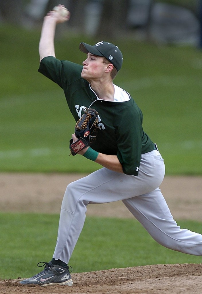 Lincoln Sanborn, who will head to St. John's University after his senior season at Bonny Eagle, struck out 51 in 49 innings last season and batted .327. He also plays shortstop.