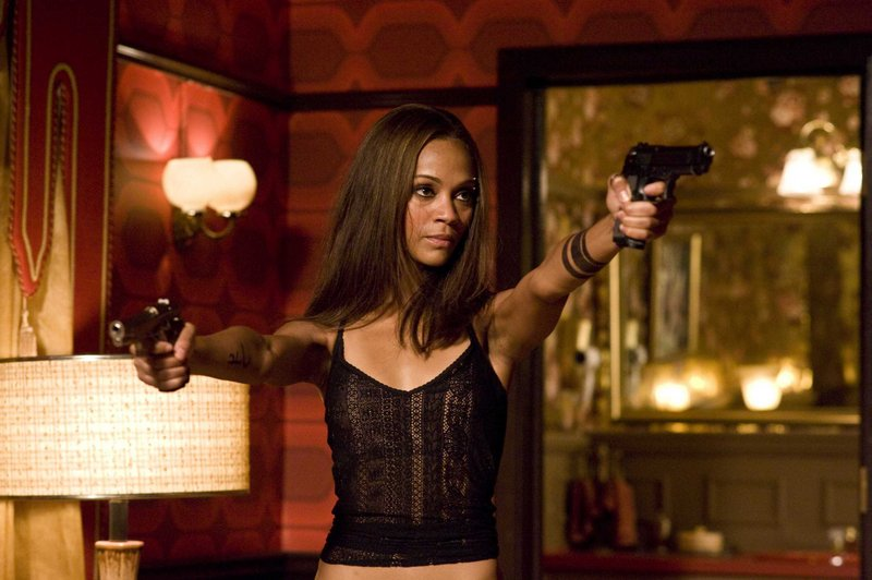 "Zoe Saldana plays Aisha in the new action thriller ""The Losers."""