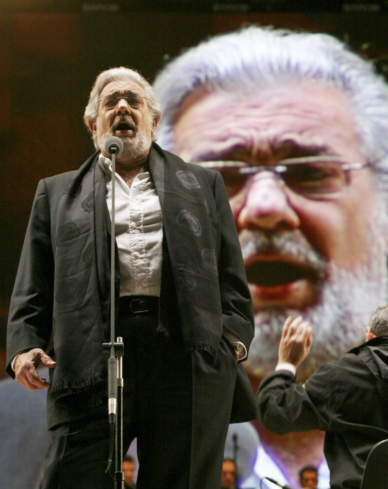 Placido Domingo, shown rehearsing in Mexico City in December, returned to singing on Friday at the famed La Scala opera house in Milan, Italy.