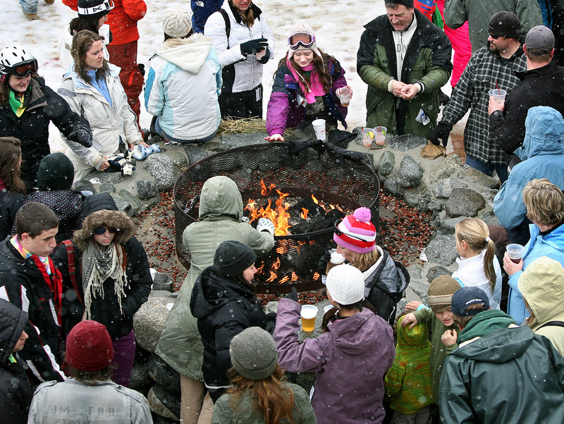 A fire pit on the Beach is a big draw for Reggae Fest-goers.