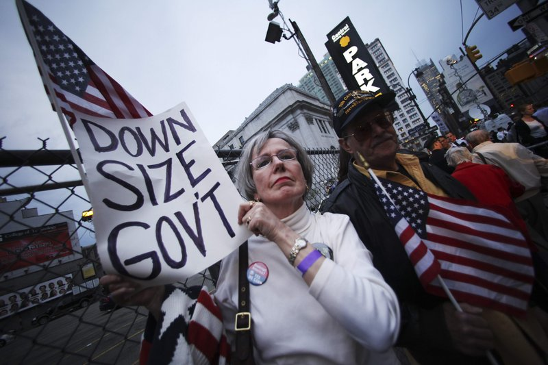 Tea party protests, like this Tax Day event in New York, are just part of a growing anti-government sentiment in the U.S.