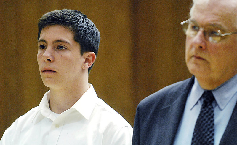 Austin Renaud, 18, of Springfield, Mass., is arraigned on drunken driving charges in Holyoke, Mass., Tuesday. Renaud is one of six tpreviously charged in the alleged bullying of Phoebe Prince, 15, who committed suicide in January.