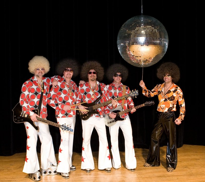 Music director Robert Moody, at right, and the Portland Symphony Orchestra are joined by the disco party band Motor Booty Affair for two concerts this weekend.