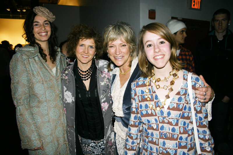 Designer Christine DeTroy, second from right, stands with models Morira Tarmy and Lisa Bossi and her neice Susan DeTroy, who is also wearing Christine DeTroy.