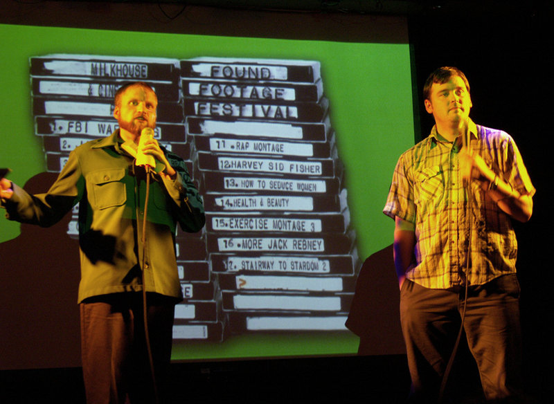 Nick Prueher and Joe Pickett co-host the Found Footage Festival, showcasing footage from videos found at garage sales, thrift stores and dumpsters across the country.