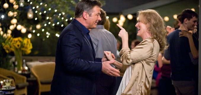 """Alec Baldwin and Meryl Streep in """"It's Complicated"""""""