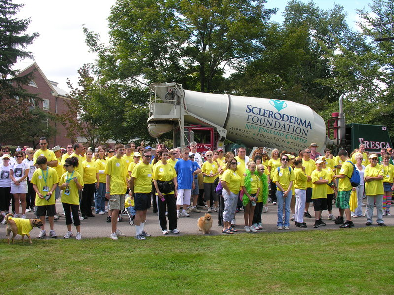 This scene is from a previous Sclerodoma Association walk held in New England.