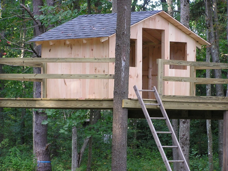 "The Dow family in Yarmouth has a well-loved – and well-used – treehouse in their yard. ""The kids use it all the time,"" mom Liz Dow says."
