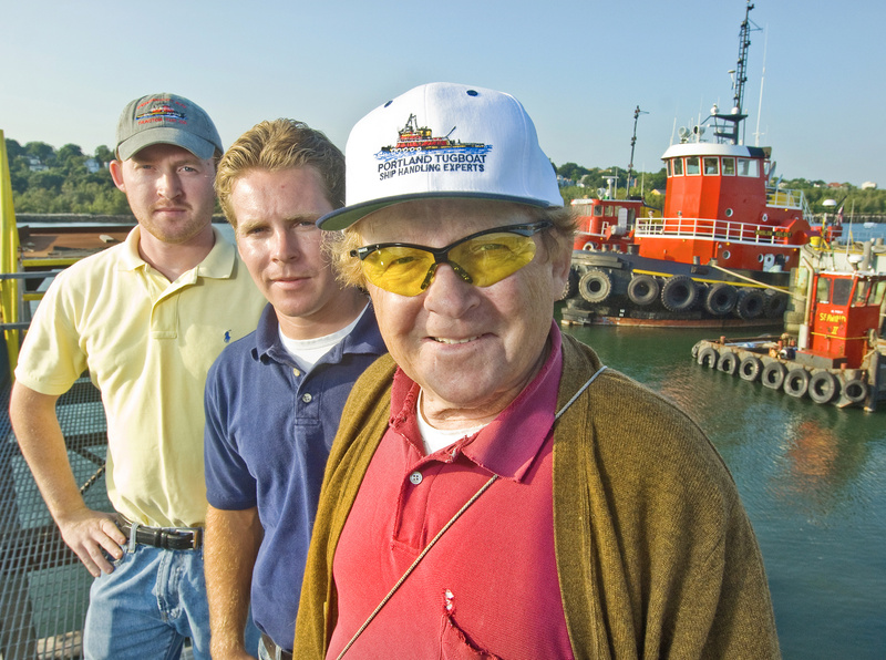 Arthur Fournier, right, seen with his sons Doug, left, and Pat, leaves a legacy of safely moving ships and helping to create new licensing rules for modern ship pilots.