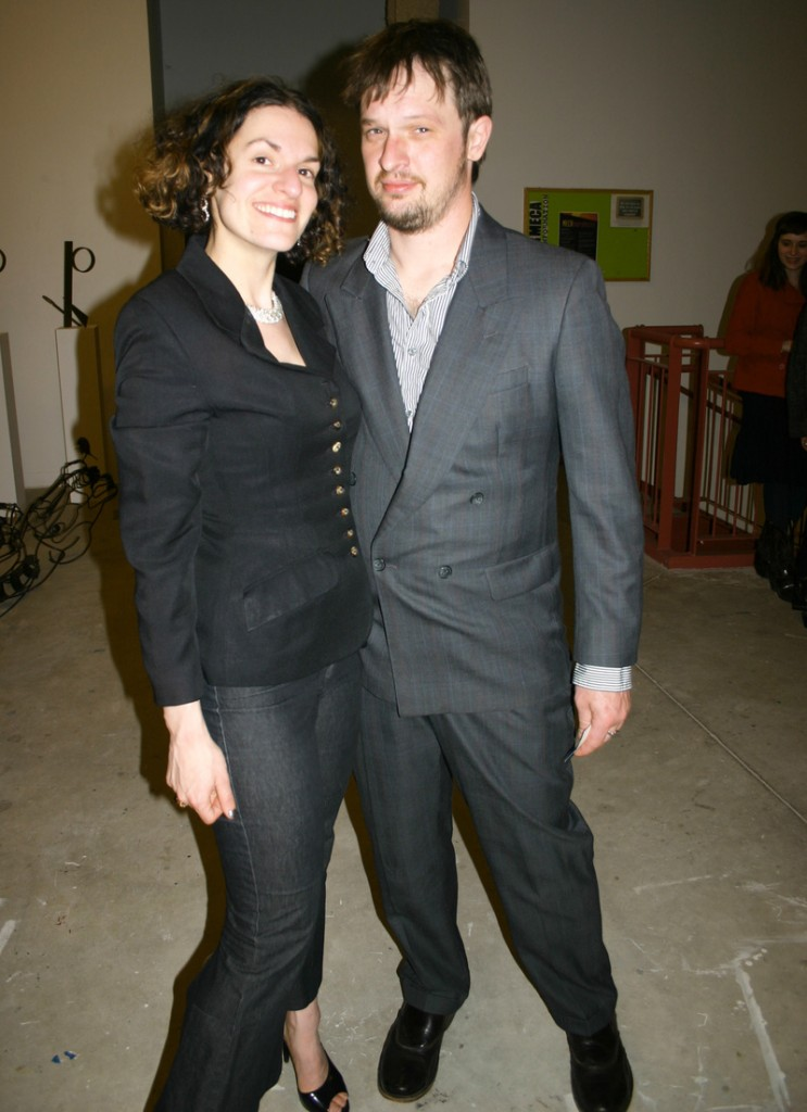 Lauren Fensterstock, interim director of MECA's Institute of Contemporary Art, and Aaron Stephan.