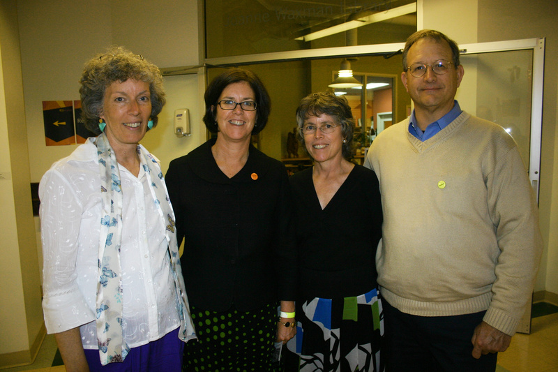 Kathy Mills, a former staff member, Beth Elicker, the executive vice president, Katherine Harmon Harding, a continuing studies teacher, and Ralph Harding, a trustee.