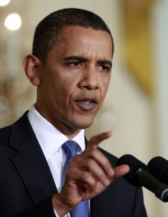 """President Barack Obama at a news conference in the East Room of the White House today: """"This is what I wake up to in the morning, and this is what I go to bed at night thinking about. The spill."""""""