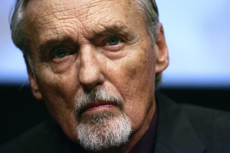 American actor and director Dennis Hopper, shown here in an October 2008 photo, died today at his Venice, Calif., home. He was 74. Her had been suffering from prostate cancer.