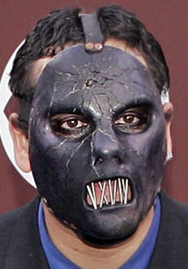 Paul Gray from the group Slipknot arrives for the 47th Annual Grammy Awards in Los Angeles in this Feb. 13, 2005, photo,