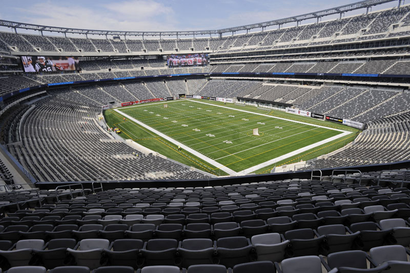 A view of the field of the new $1.6 billion Meadowlands Stadium, home of the New York Giants and the New York Jets football teams in East Rutherford, N.J.
