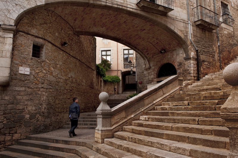 Steep steps lead to the Gothic spires, Romanesque towers and stone ramparts of Girona, a city in Spain's Catalonia region. Although its flashier neighbor, Barcelona, gets more attention, Girona is a worthy destination in its own right. SPAIN GIRONA EUROPE FOOD CUISINE