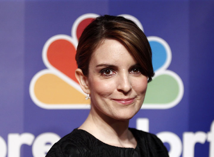 Actress Tina Fey, known for her impression of Sarah Palin on