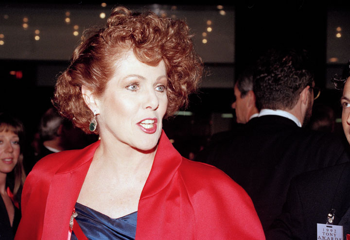 In this 1992 photo, actress Lynn Redgrave arrives at the Gershwin Theater in New York for the 46th annual Tony Awards.