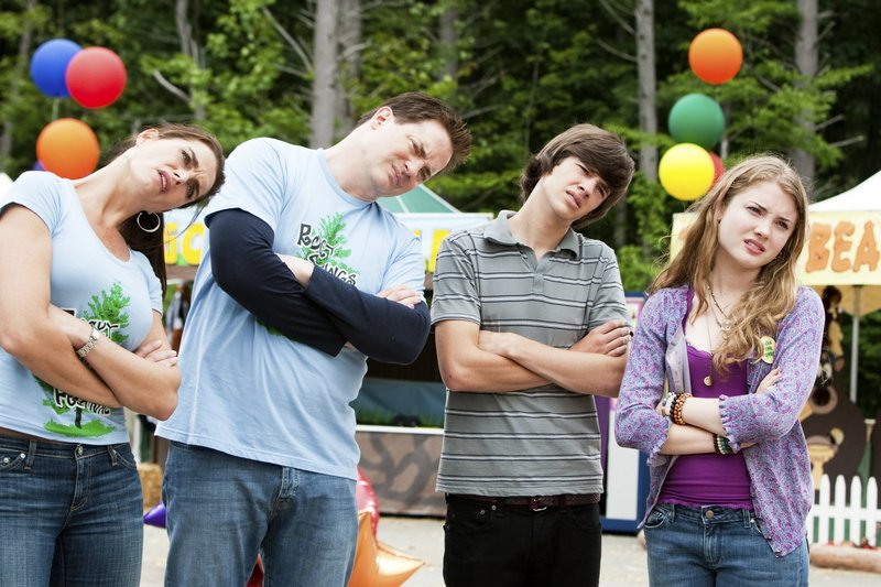 Brooke Shields, left, Brendan Fraser, Matt Prokop and Skyler Samuels in