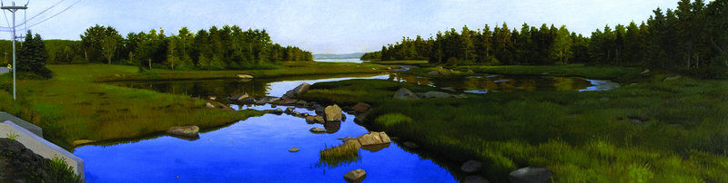 """Thomas Bay, MDI,"" oil on canvas by James Mullen"