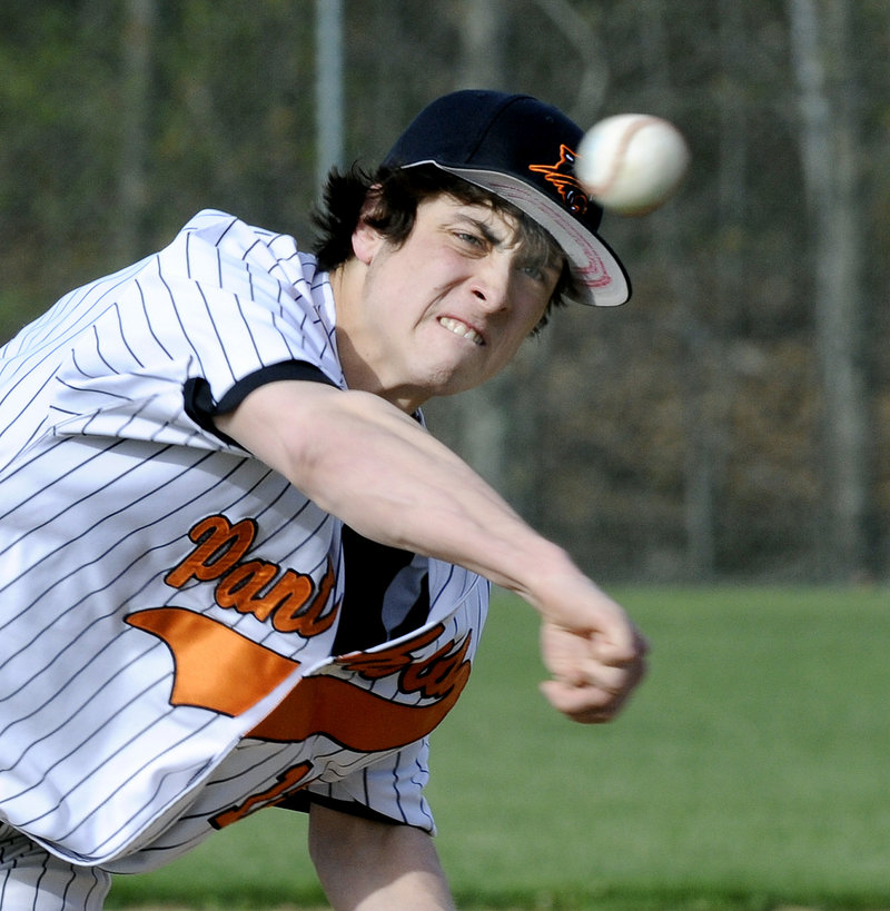Dean Darien was the winning pitcher Friday for North Yarmouth Academy in a 13-2 victory against Waynflete, allowing two runs and four hits in five innings.