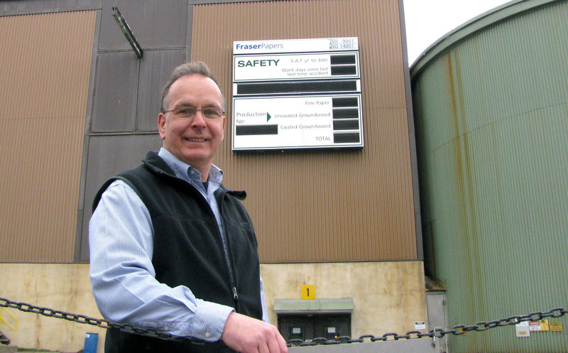 Courtesy Northern Maine Community College This is a two-line cutline ..... outside the Fraser Papers mill (his old employer) in Madawaska ..... with more from the story pleez with more from the story pleez with more from the story.