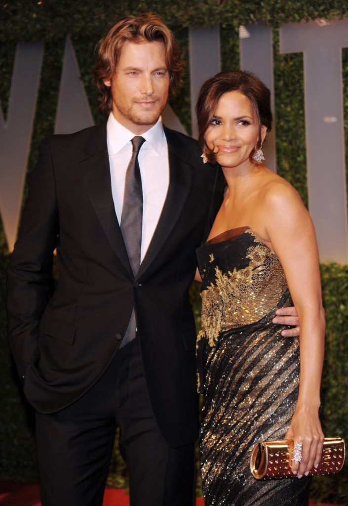 Halle Berry is seen with Gabriel Aubry.