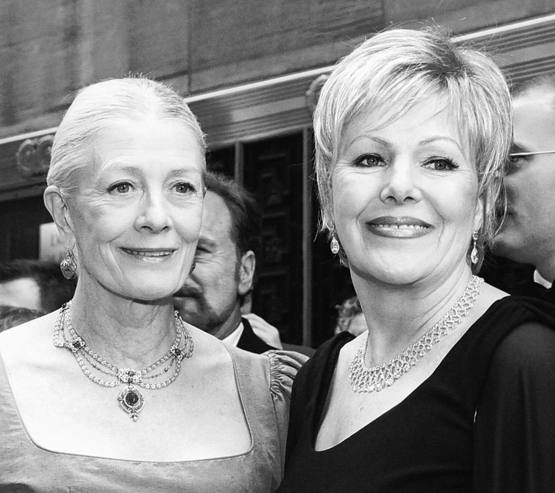 Lynn Redgrave, right, is shown with sister Vanessa Redgrave at the Tony Awards in New York in 2003. Lynn Redgrave died Sunday in Kent, Conn., at age 67.