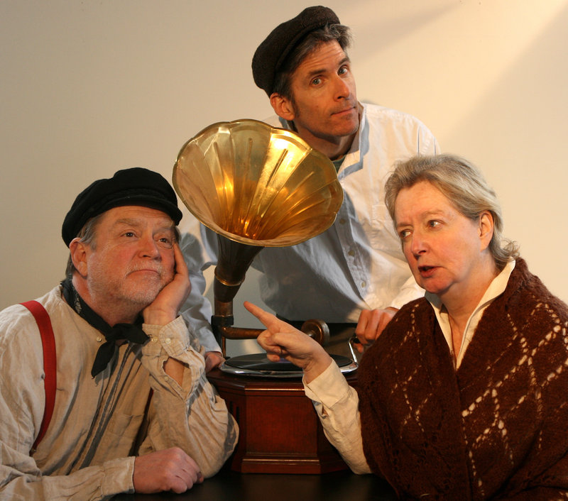 """From left, Tony Reilly, Paul Haley and Maureen Butler in the American Irish Repertory Ensemble's """"Juno and the Paycock,"""" which opens this week at the St. Lawrence Arts and Community Center."""