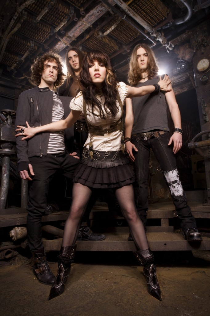 Up-and-coming hard rock band, Halestorm, performs in Portland tonight.