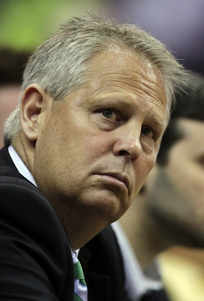 """Danny Ainge's towel-tossing incident in Game 2 """"is under review"""" by the league. The Celtics had no comment."""