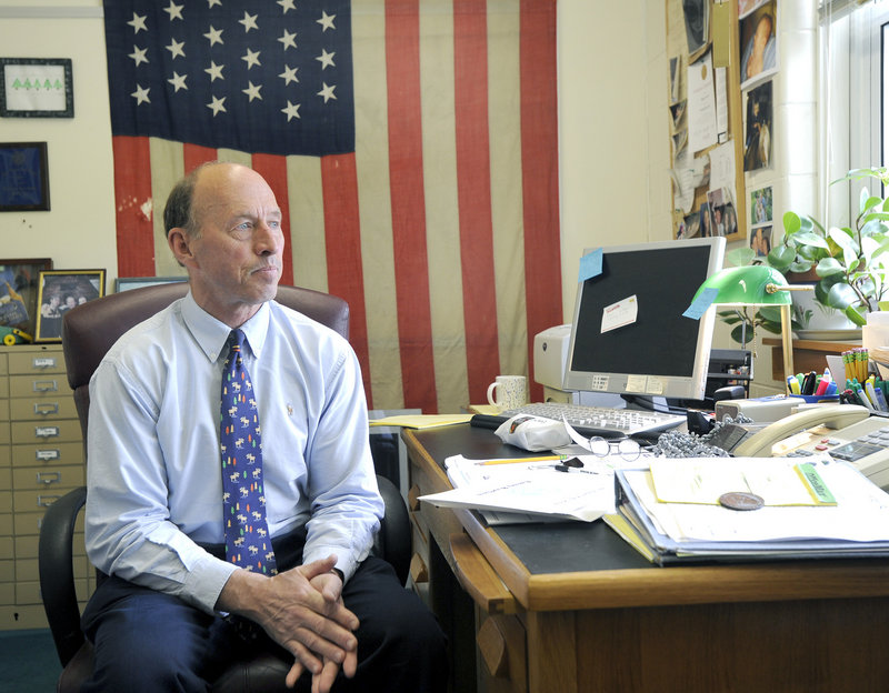Roger Lowell, for 16 years the well-liked principal of Lake Region High School in Naples, has announced he will retire next month.