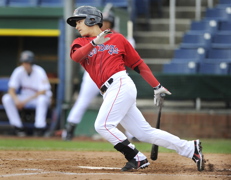 Jose Iglesias also has been a steady producer at the plate for the Sea Dogs.