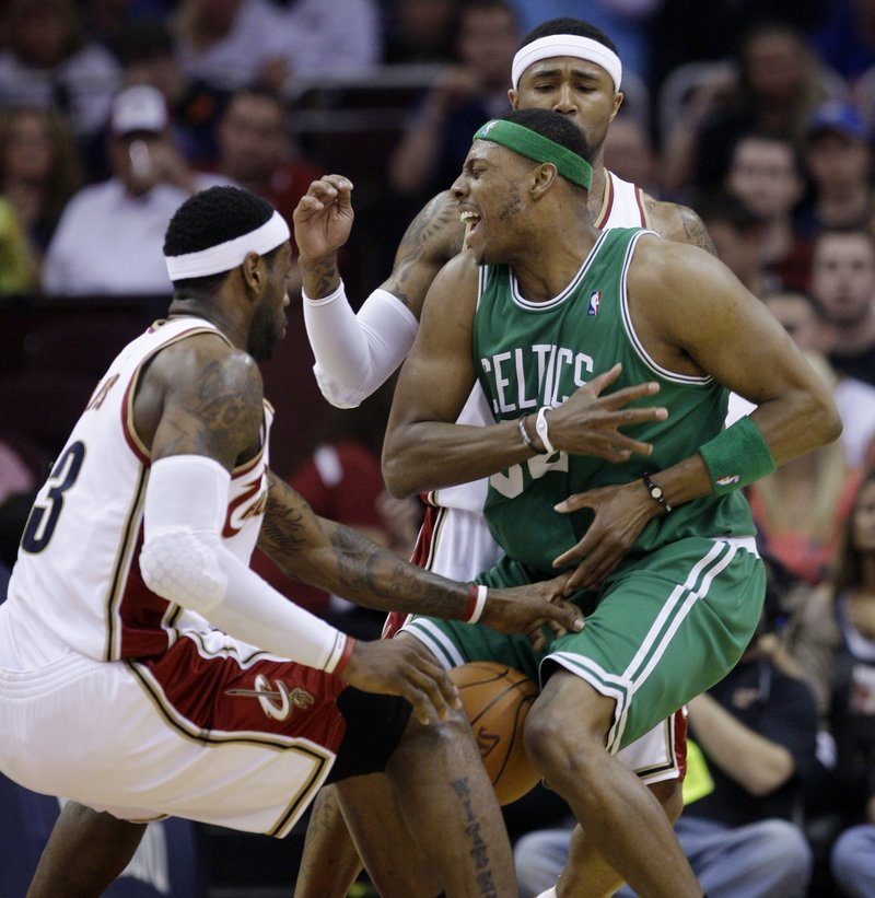 Paul Pierce hasn't found much room to operate against the Cleveland Cavaliers but will have to step up his game today, or the series will be pretty much over.