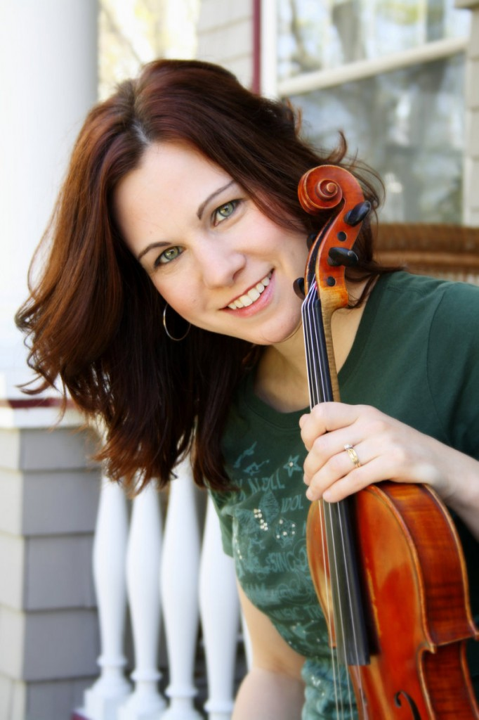 Fiddler and step dancer April Verch and her band perform at the Opera House at Boothbay Harbor Sunday.