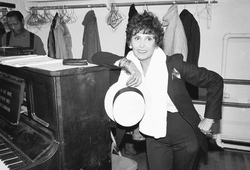 "Singer Lena Horne is shown during rehearsal for her Broadway show ""Lena Horne: The Lady and Her Music,"" in New York City in April 1981. Horne died Sunday at age 92."
