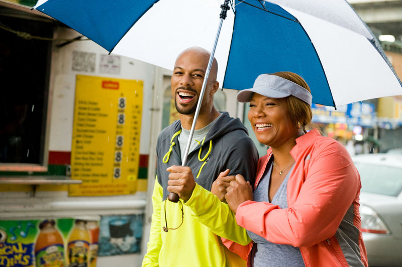 "Queen Latifah and Common in ""Just Wright."""