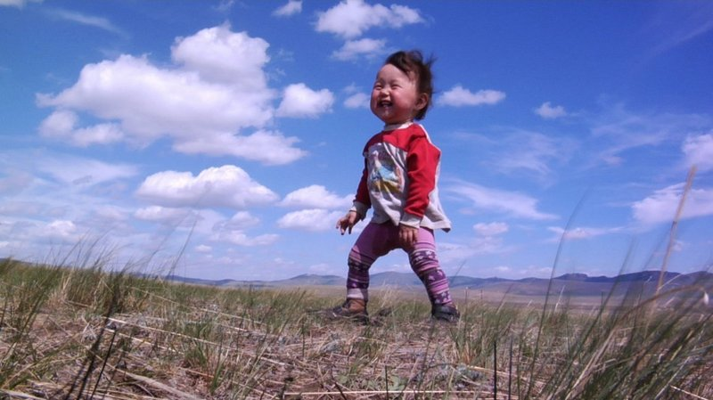 Bayar, who lives in Mongolia with his family, is one of the four babies followed from birth to first steps.