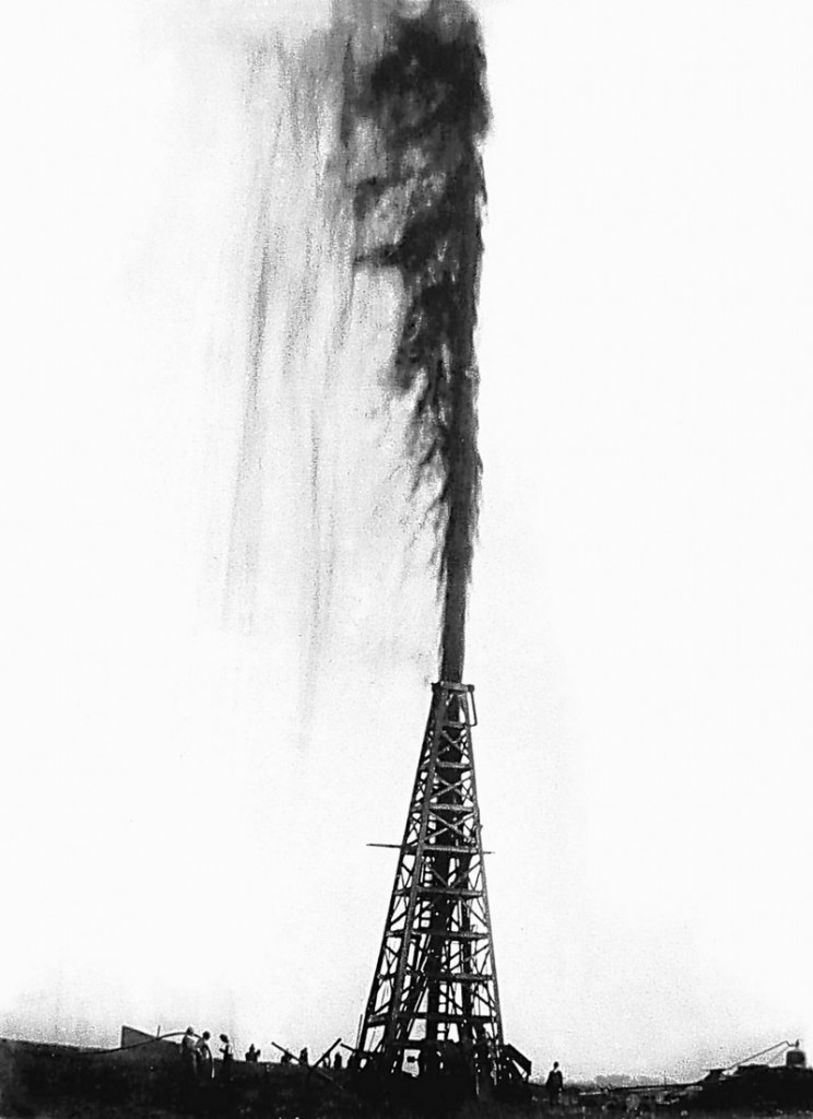 """The Lucas gusher at Spindletop blows oil an estimated 200 feet into the air on Jan. 10, 1901 – a strike considered by many to be the birth of modern oil exploration, characterized by a no-holds barred, high-risk, high-profit business model. Although oil companies today emphasize an eco-friendly philosophy, some industry analysts say the """"wildcat heritage"""" lives on. """"It really is a sort of cultural fast forward from the Texas wildcatters,"""" says Richard Charter, a senior policy adviser for Defenders of Wildlife."""