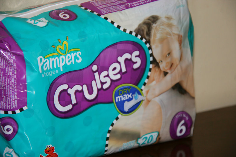 A package of Pampers that uses a new Procter & Gamble technology called Dry Max is seen in Alexandria, Va. P&G says there's no evidence that the diapers cause rashes or burns.