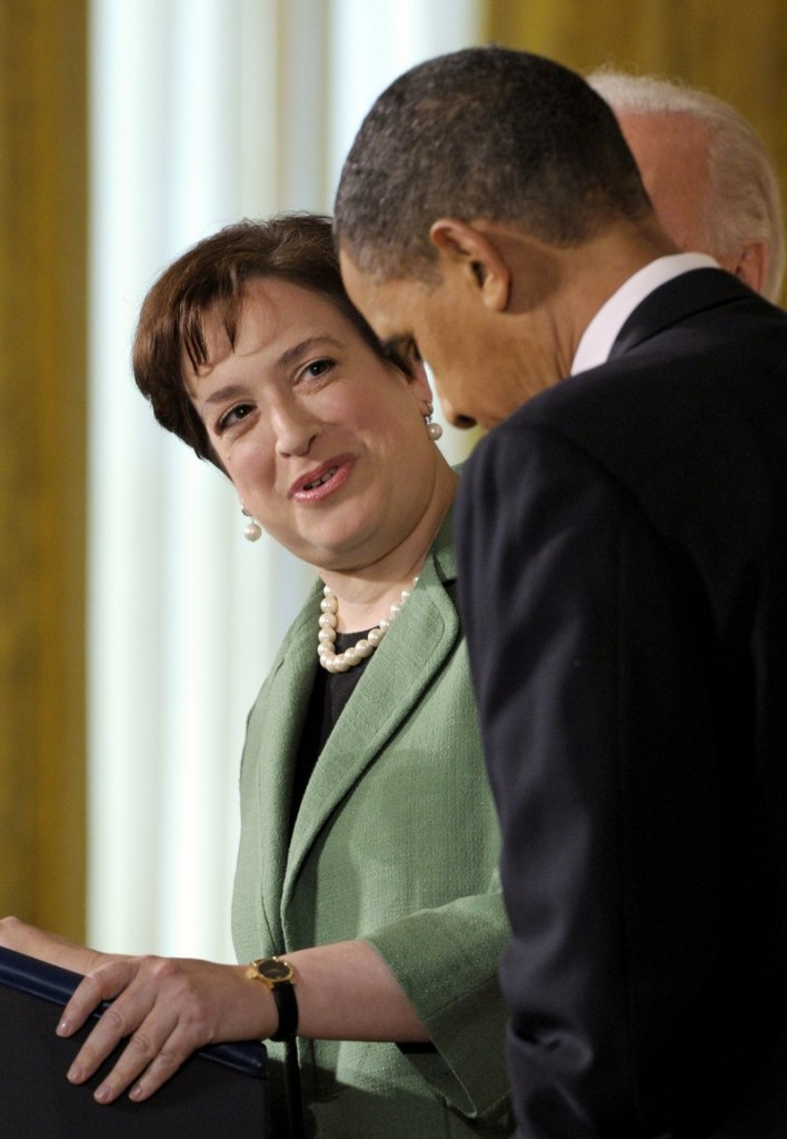 Supreme Court nominee Elena Kagan speaks to President Obama in the White House. The biggest question mark for Kagan's appointment is her lack of judicial experience.